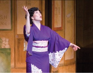 "Keiko Kawashima performs odori in a scene from ""Nihonmachi: The Place to Be."""