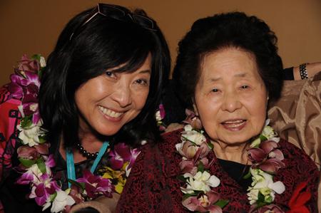 Filmmaker Yuriko Gamo Romer and Keiko Fukuda.
