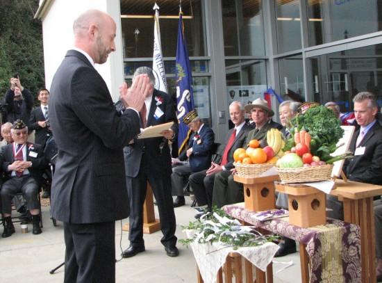 Dan Bernal, representing House Democratic Leader Nancy Pelosi, participates in the blessing ceremony.