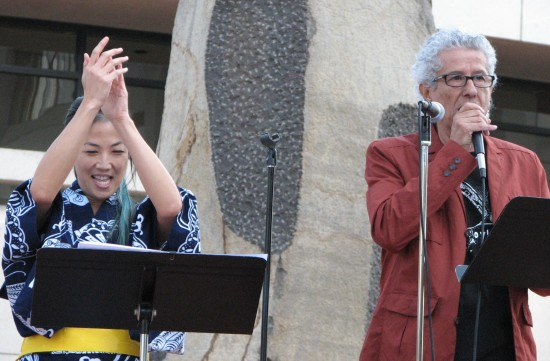 Artists Traci Kato-Kiriyama and Ruben Funkahuatl Guevara served as emcees.