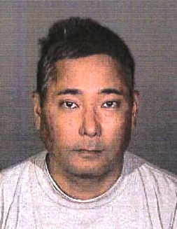 Myles Hanashiro's booking photo (California Department of Insurance)