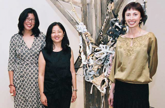 """From left: Susette S. Min, Karin Higa, and Asia Society Museum Director Melissa Chiu, co-curators of the Asia Society Museum exhibition """"One Way or Another: Asian American Art Now"""" which opened at Asia Society Museum in September 2006."""