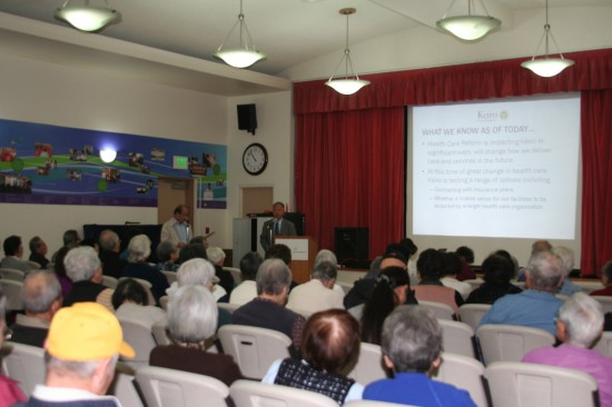 On Oct. 30, Shawn Miyake gave a presentation, translated into Japanese by Takeshi Oishi, to Keiro Retirement Home residents and volunteers about the impacts of health care reform.