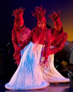 Debra Beaver Bauer's costumes transformed performers into undersea creatures.