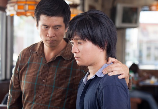 "Eugene Kim and Gaku Hamada in a scene from ""Sake-Bomb."""