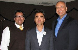 James Toma with Covina City Councilmember Marquez (left) and State Sen. Ed Hernandez.
