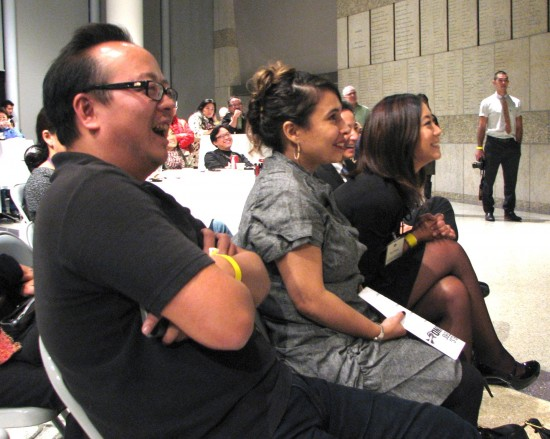 Jeff Yang, Ruby Gomez and Kira Teshima enjoy the show.