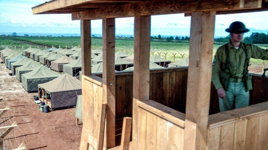 "The Honouliuli internment camp was recreated for an upcoming episode of ""Hawaii Five-O."" (CBS)"