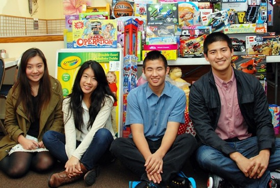 Changing Our Community Giving Circle members (from left): Ashley Ishigo, Maya Okamoto, Kevin Doi and Eric Komatsu. Not pictured: Kelly Ouye and Lindsay Kobayashi.