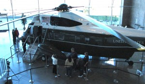 Visitors to the museum had an opportunity to see Marine One (the presidential helicopter) and Air Force One.