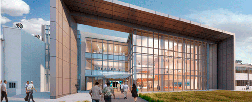 Artist's rendering of the Inouye Center.