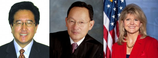 Menlo Park Mayor Peter Ohtaki, California Supreme Court Justice Ming Chen, RNC Vice President Day