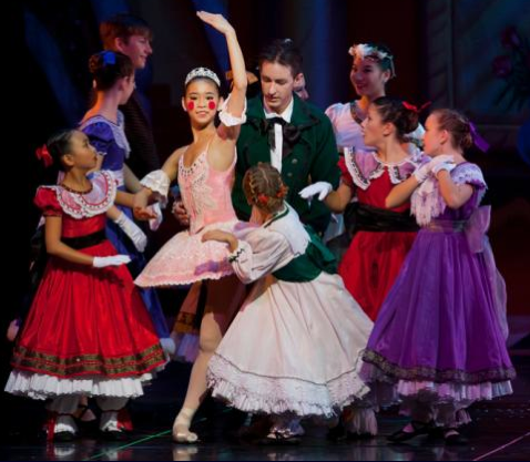 "A scene from South Bay Ballet's ""Nutcracker."" (Photo by Michael Khoury)"