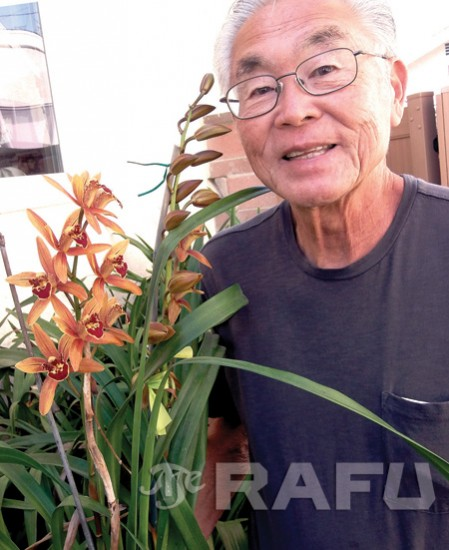 bert tagami with orchids