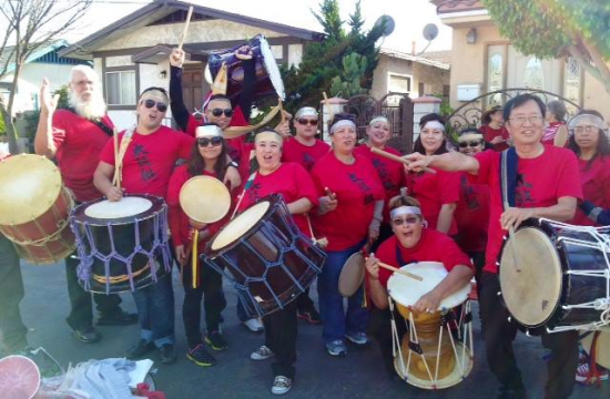 Team Taiko performed in 33rd annual San Pedro Holiday Parade on Dec. 1.