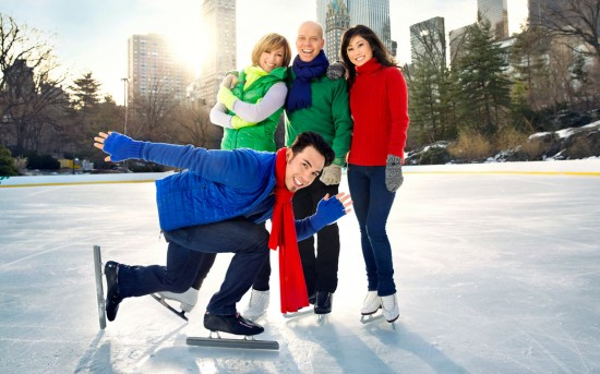 Apolo Ohno, Dorothy Hamill, Scott Hamilton and Kristi Yamaguchi on the cover of Parade magazine.