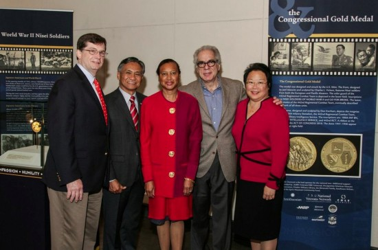 "From left: Bob Jackson, AARP Texas state director; retired Maj. Gen. Tony Taguba; Charlene Hunter-James, AARP Texas Executive Council member; Stephen Menick, writer and director of ""Honorable Journey""; Daphne Kwok, AARP vice president of multicultural markets and engagement. (Photo courtesy of Holocaust Museum Houston)"