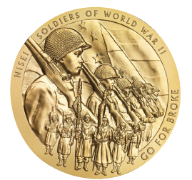 The Congressional Gold Medal awarded to the Nisei soldiers of World War II