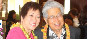 Rep. Colleen Hanabusa and former Sen. Daniel Akaka