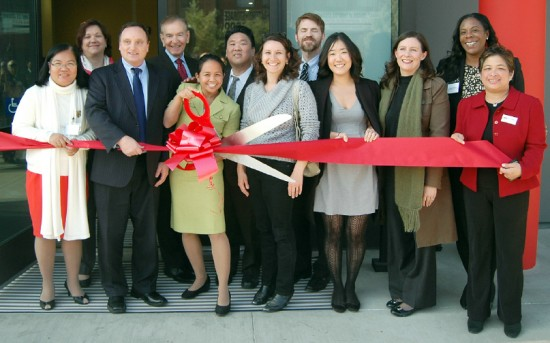 A ribbon-cutting ceremony for the Larry Itliong Village on Dec. 13 in Filipinotown.