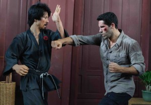 Kane Kosugi and Scott Adkins