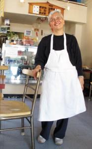 Little Tokyo Cafe proprietor Tokiko Ishii (MARIO G. REYES/Rafu Shimpo)