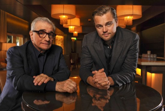 "Robert Hanashiro's portrait of director Martin Scorcese and actor Leonardo Dicaprio, whose latest collaboration is ""The Wolf of Wall Street."" (USA Today)"