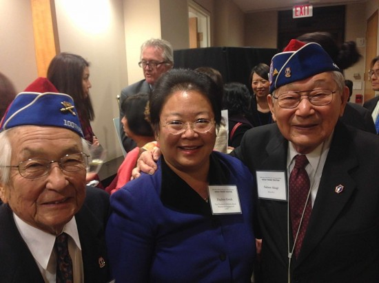 From left: Veteran Sus Ito, Daphne Kwok, AARP vice president of multicultural markets and engagement, Asian American and Pacific Islander audience, and veteran Nelson Akagi.
