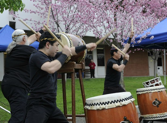 Taiko drummers at last year's Cherry Blossom Festival.