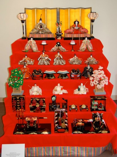 A traditional Girls' Day doll display.