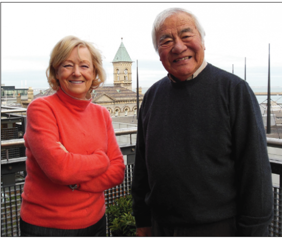 Jimmy Murakami and his wife, Ethna, at their home in Dublin, Ireland in December 2013. (Photo courtesy of