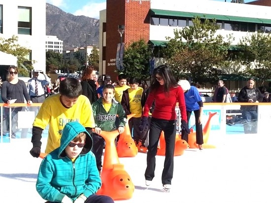 Kristi Yamaguchi took to the ice with students from Emerson Elementary School in Burbank in December.