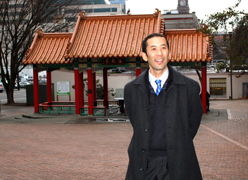 Michael Shiosaki is in charge of the expansion of Hing Hay Park. (Photo by George Liu/Northwest Asian Weekly)
