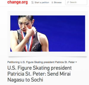 A Change.org petition calling on U.S. Figure Skating to reverse its decision was initiated by Karen Wu of Seattle and has collected more than 5,000 signatures.