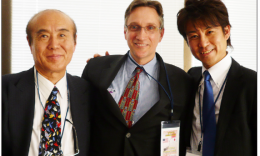 Masahiro Sasaki, Clifton Truman Daniel and Yuji Sasaki meet for the first time at a peace event in New York City in 2010. Daniel and Yuji Sasaki will be speaking in Los Angeles on March 1 at the Japan Foundation.