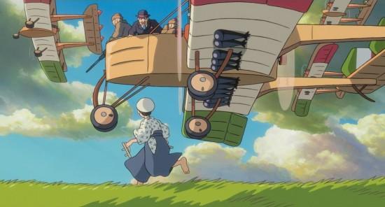 "Young Jiro Horikoshi is inspired by Italian aviator Caprioni in a scene from ""The Wind Rises."" (Studio Ghibli)"
