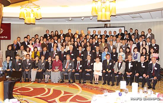 LA稲門会の設立60周年を祝った参加者約130人
