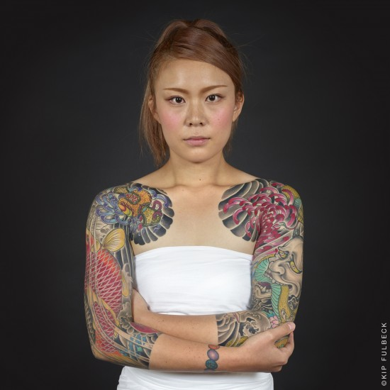 Tattoo by Horikiku. (Photo by Kip Fulbeck)