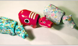 Akabeko toys are symbols of the Aizu region of Fukushima Prefecture.