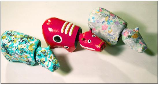 Akabeko toys are symbols of the Aizu region of Fukushima Prefecture.
