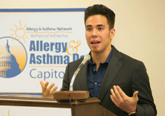 Short-track speed skater Apolo Anton Ohno shared his story of overcojming exercise-induced bronchospasm IOEIB at AANMA's 6th annual Allergy & asthma Day Capitol Hill on May 9.