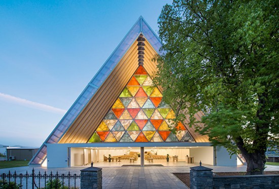 Cardboard Cathedral, Christchurch, New Zealand, 2013  (Photo by Stephen Goodenough)