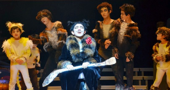 "Dressed in cat costumes, children from JSPACC perform the musical ""Miraclecats."" (Courtesy JSPACC)"