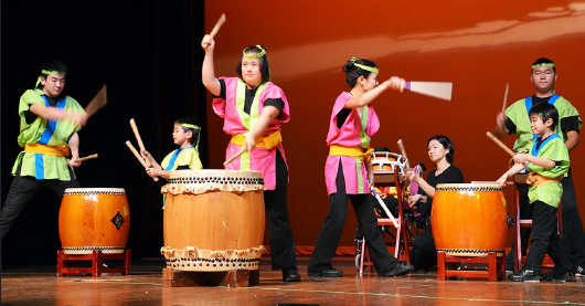 Members of Kizuna Taiko delivered a powerful performance at JSPACC's 20th anniversary event at Marsee Auditorium at El Camino College on March 2. (Courtesy of JSPACC)