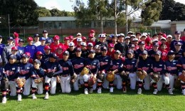 Beach City Baseball Academy held a pre-tournament workout with the teams playing in the Los Angeles-Tokyo games this weekend.