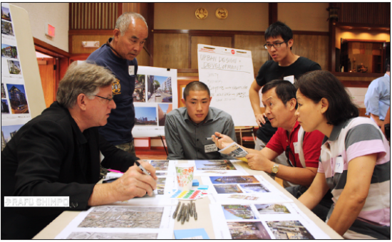 : Little Tokyo community members participate in a design charette as part of Sustainable Little Tokyo last September. (GWEN MURANAKA/Rafu Shimpo)