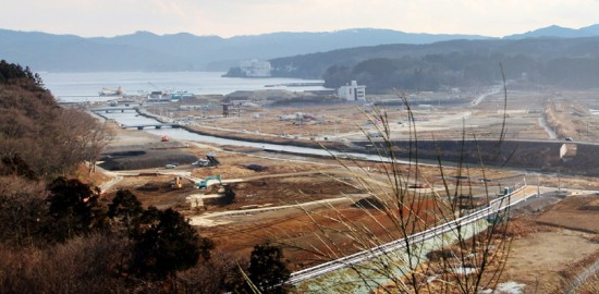 A view of Minamisanriku, Miyagi Prefecture, taken by Darrell Miho on Jan. 26.
