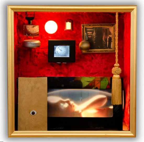 "Norman Yonemoto's ""Movie Palace of the Mind"" (2003) includes an image from ""2001: A Space Odyssey."""
