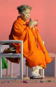 Her Holiness Shinso Ito, head priest of the Shinnyo-en Buddhist order.