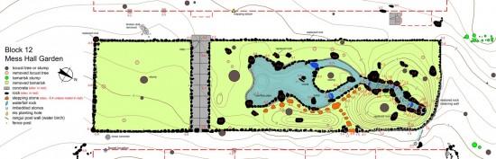 Map of Block 12 garden at Manzanar.